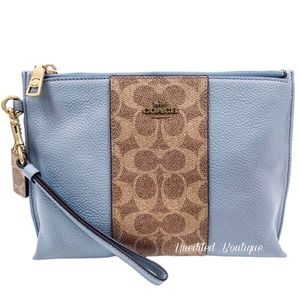 COACH Charlie Pouch Large Wristlet In Signature